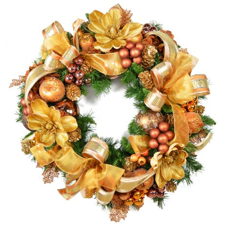 Gold Christmas Wreath.Cdwr320 Gold Christmas Wreath