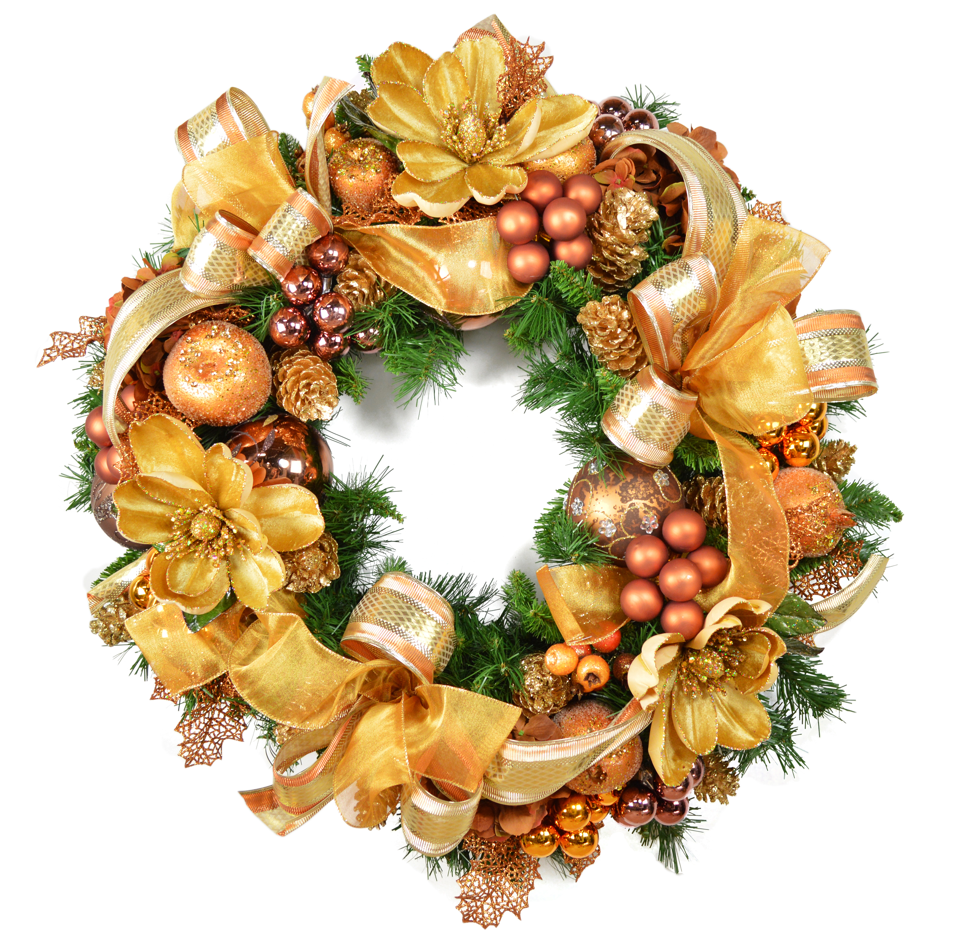 cdwr320 gold christmas wreath