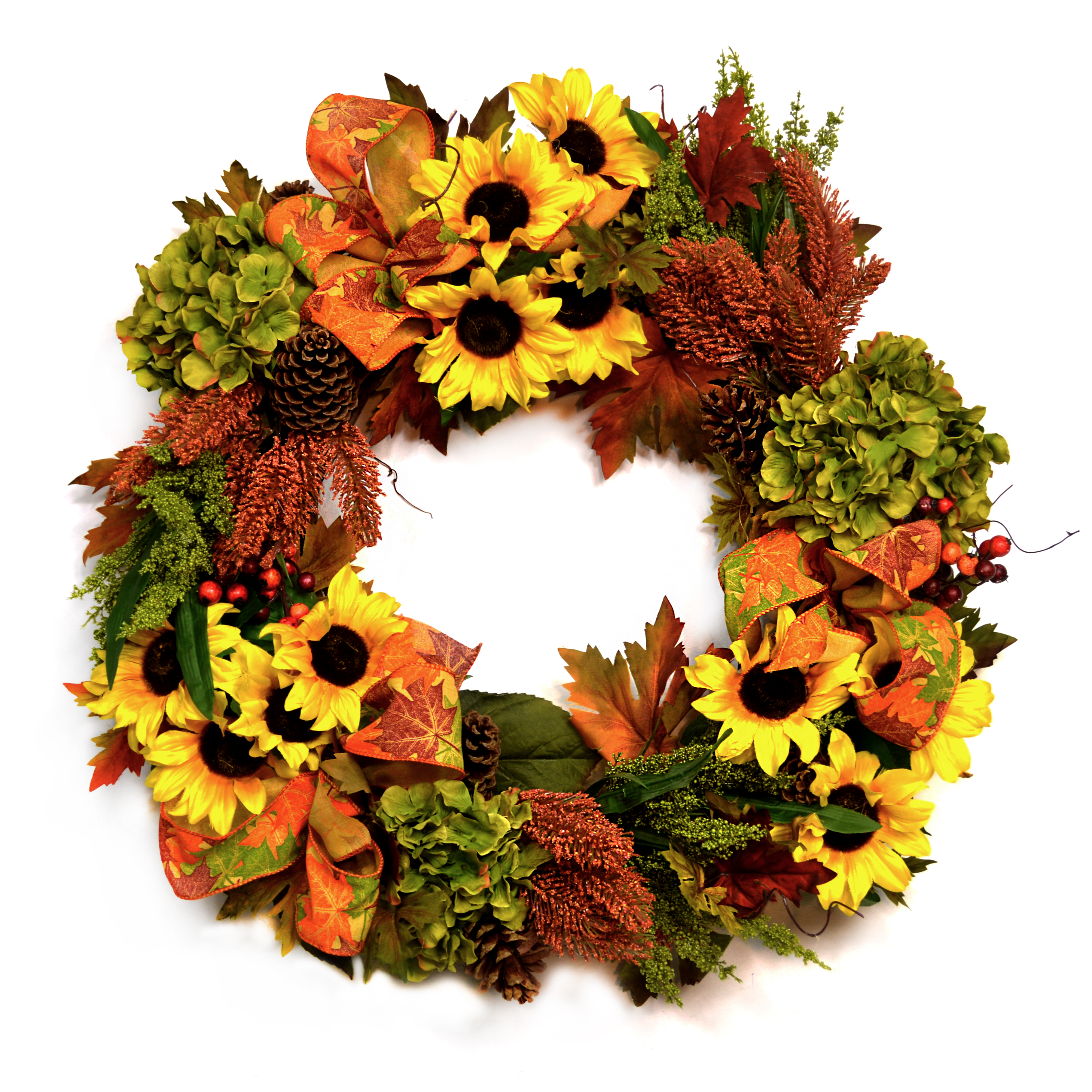 Cdwr591 Sunflower Fall Wreath Creative Displays And Designs Inc