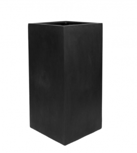 Standing Black Square Planter